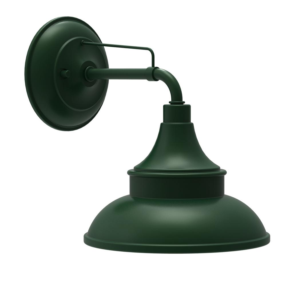 Porch Light Green: Hampton Bay Hunter Green Outdoor Barn Light Wall Mount