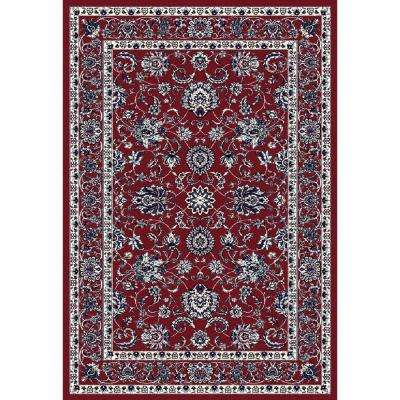 Arabella Traditional Border Red 4 ft. x 6 ft. Area Rug