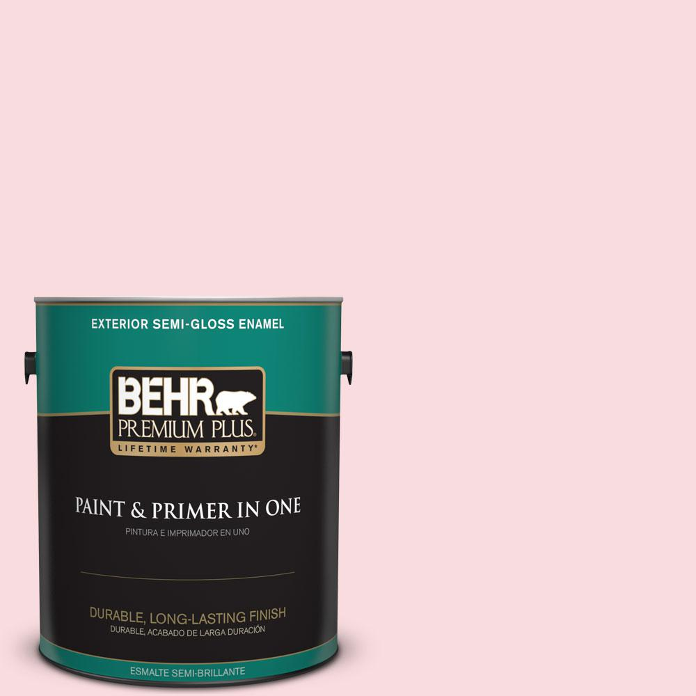 BEHR Premium Plus 1-gal. #140C-1 Southern Beauty Semi-Gloss Enamel Exterior Paint