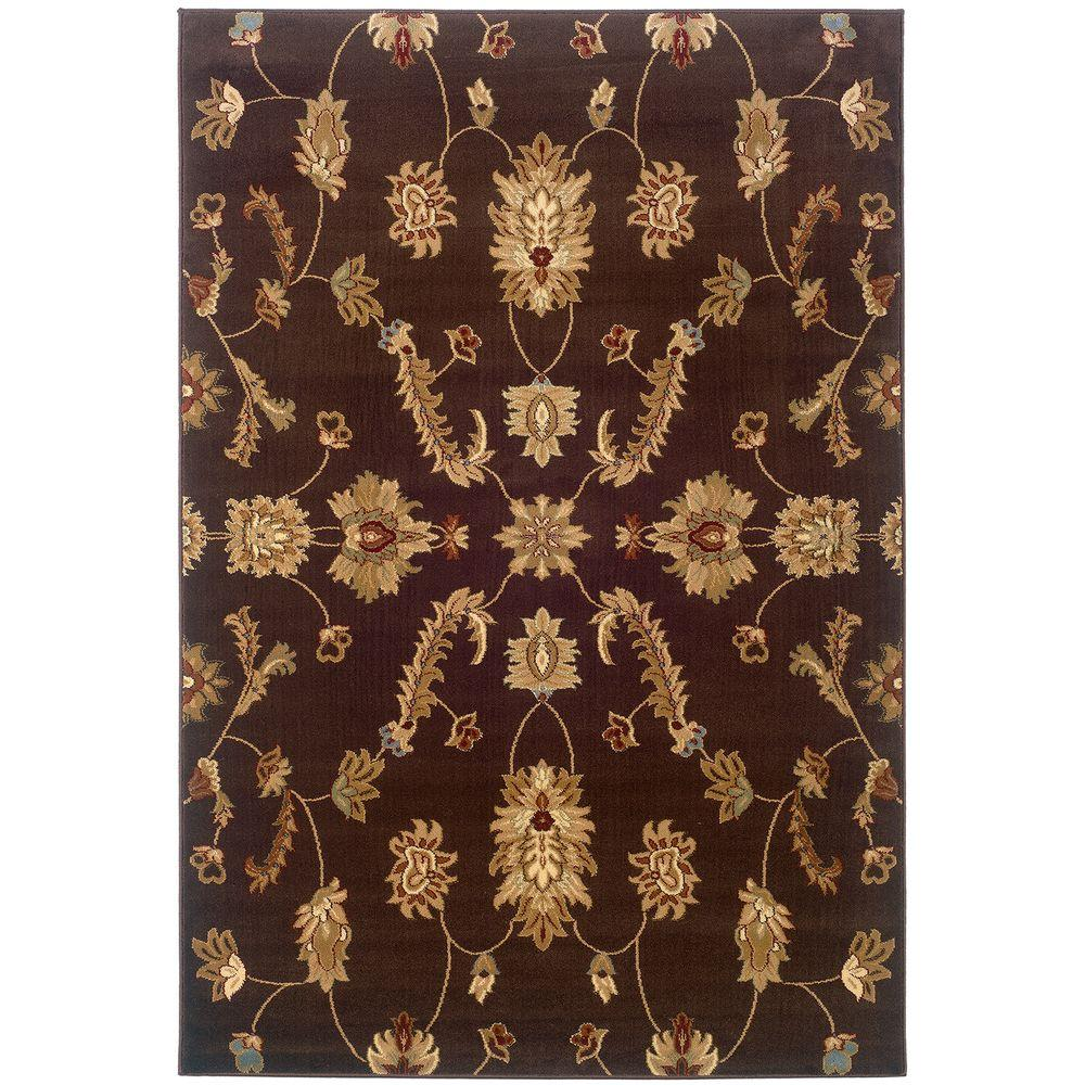 LR Resources Transitional Brown Rug Runner 1 ft. 10 in. x 7 ft. 1 in. Plush Indoor Area Rug