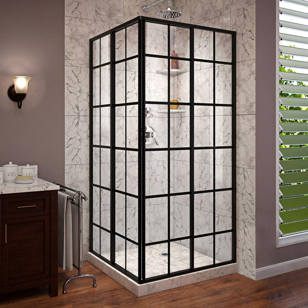 DreamLine French Corner 34-1/2 in. x 34-1/2 in. x 72 in. Framed ...
