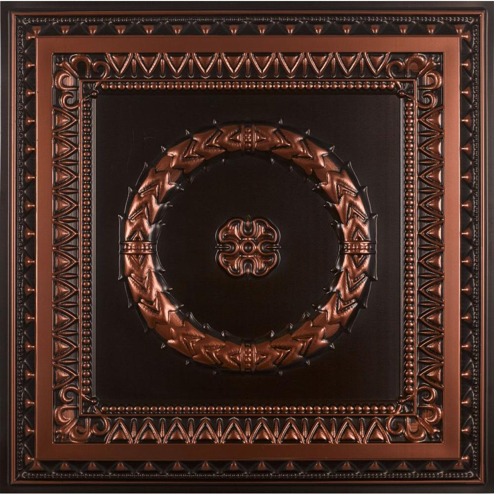 Laurel Wreath 2 Ft X 2 Ft Pvc Lay In Or Glue Up Ceiling Panel In