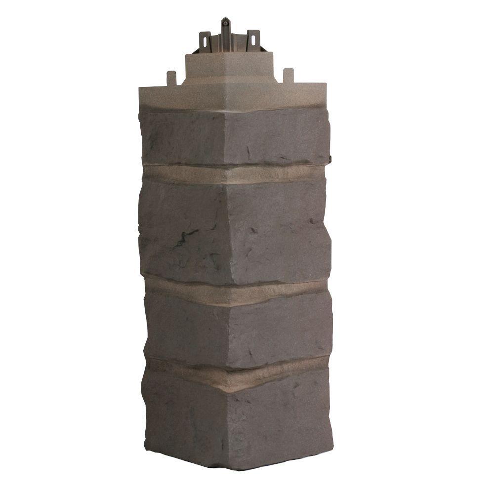 Exteria Corner in Bucks County Gray Creek Ledge stone Premium 7.25 in. x 22 in. Polypropylene 90 Degree (Carton of 5)