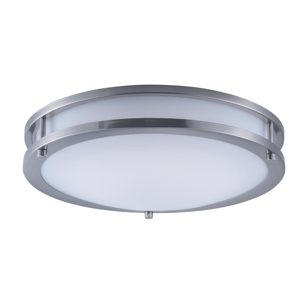 Linear LED 1-Light Satin Nickel Flush Mount