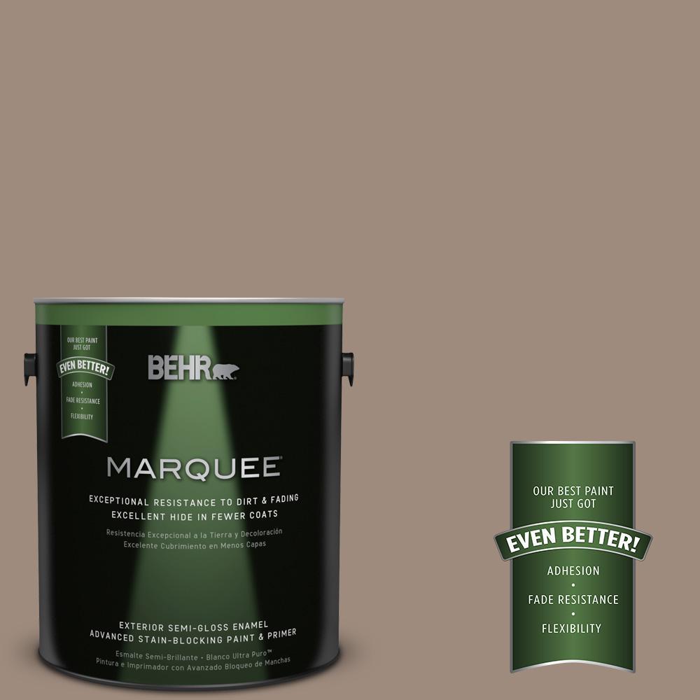 BEHR MARQUEE 1-gal. #BXC-49 Smokey Tan Semi-Gloss Enamel Exterior Paint