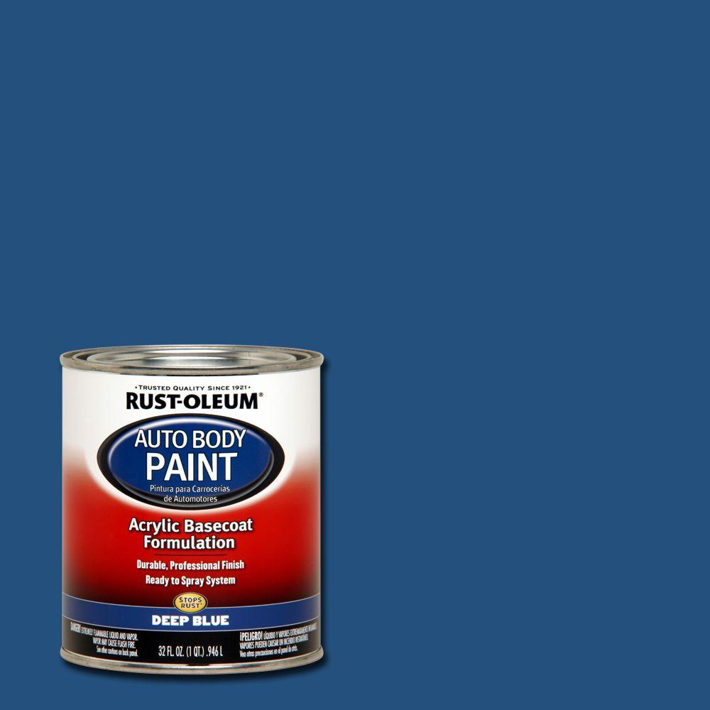 Midnight blue acrylic enamel paint kit auto paint car - Rust Oleum Automotive 1 Qt Auto Body Deep Blue Paint Case Of 2