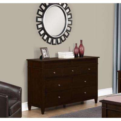 Carlton 9-Drawer Tobacco Brown Dresser