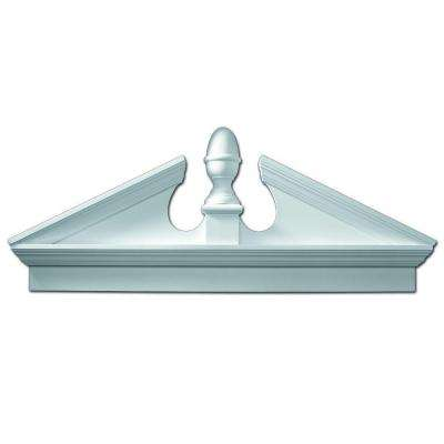 54 in. x 21-1/8 in. x 3-1/8 in. Polyurethane Combination Acorn Pediment