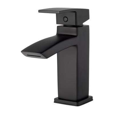 Kenzo Single Hole Single-Handle Bathroom Faucet in Matte Black