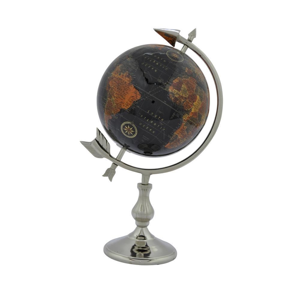 8 in. W Black Globe