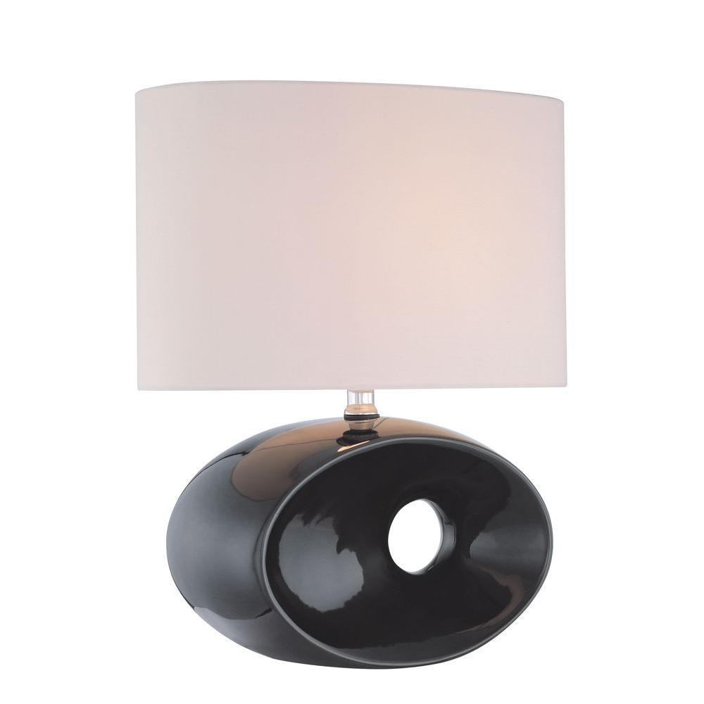 18 in. Black Table Lamp