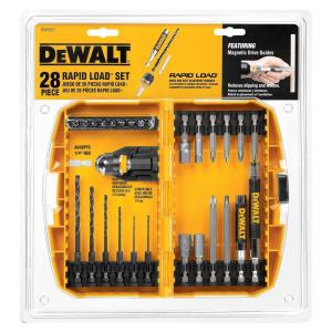 dewalt drill bit set. dewalt rapid load black oxide drill bit set (28-piece)-dw2521 - the home depot dewalt l