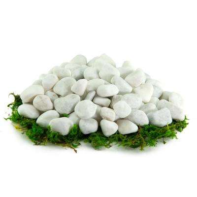 10.8 cu. ft., 1/2 in. to 1 in. 1000 lbs. White Bulk Porcelain Rock Pebbles for Potted Plants, Gardening and Succulents