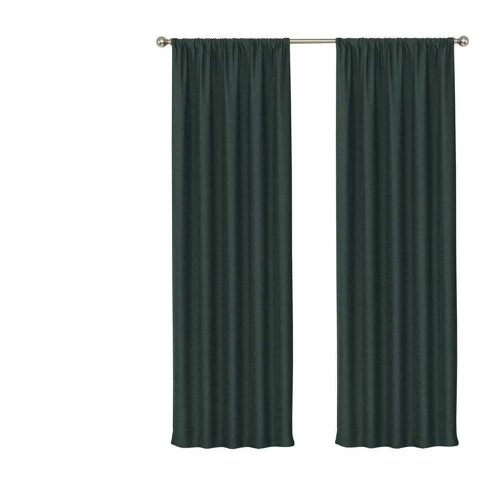 Eclipse Blackout Wallace 95 In L River Blue Rod Pocket Curtain 15947074x095rvb The Home Depot