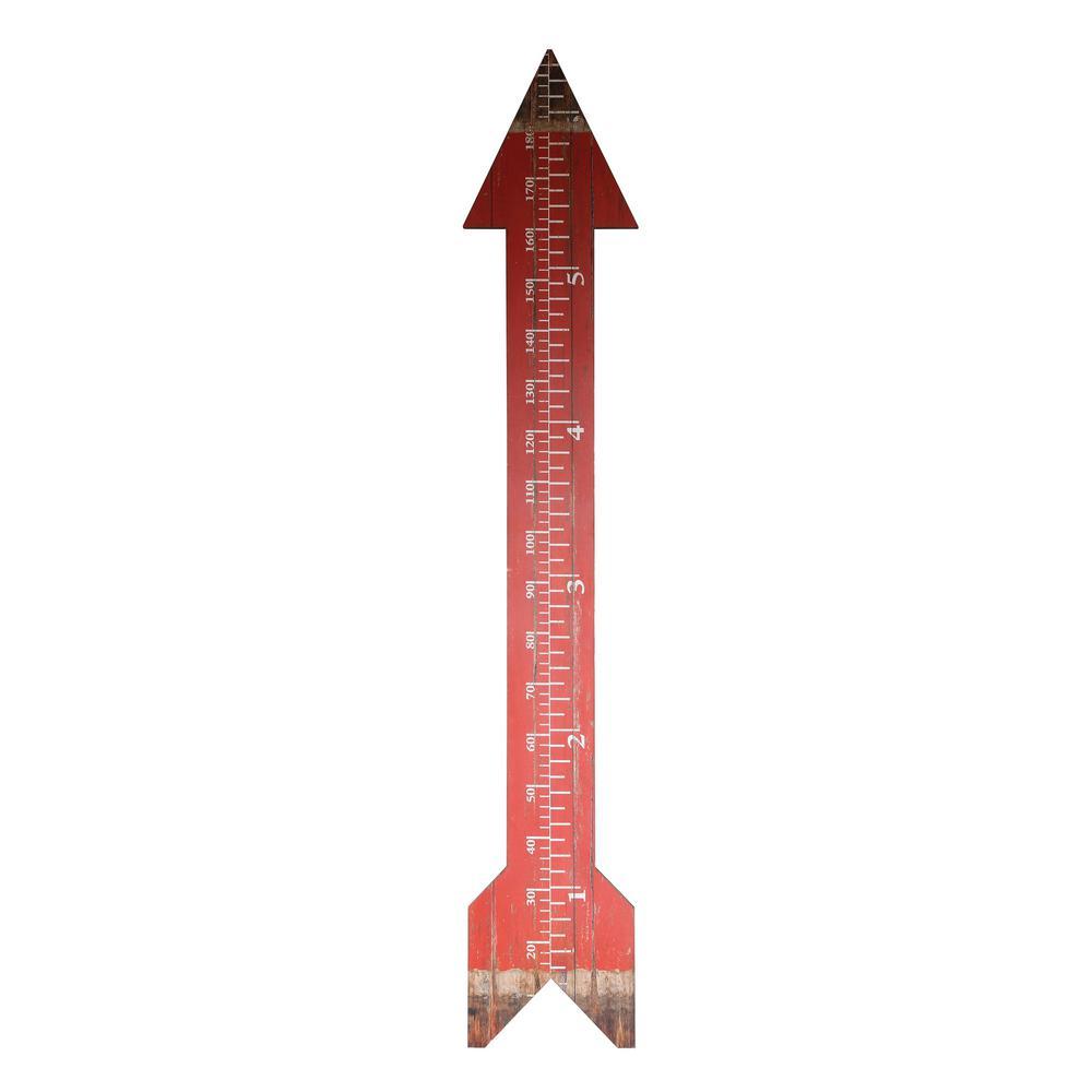 76-3/4 in. H MDF Arrow Shape Wall Measure/Growth Chart