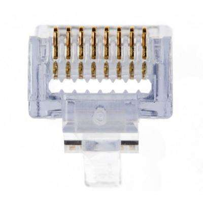 RJ45 Shielded Connector for Cat6A 10-Gig with Liner 50/Clamshell