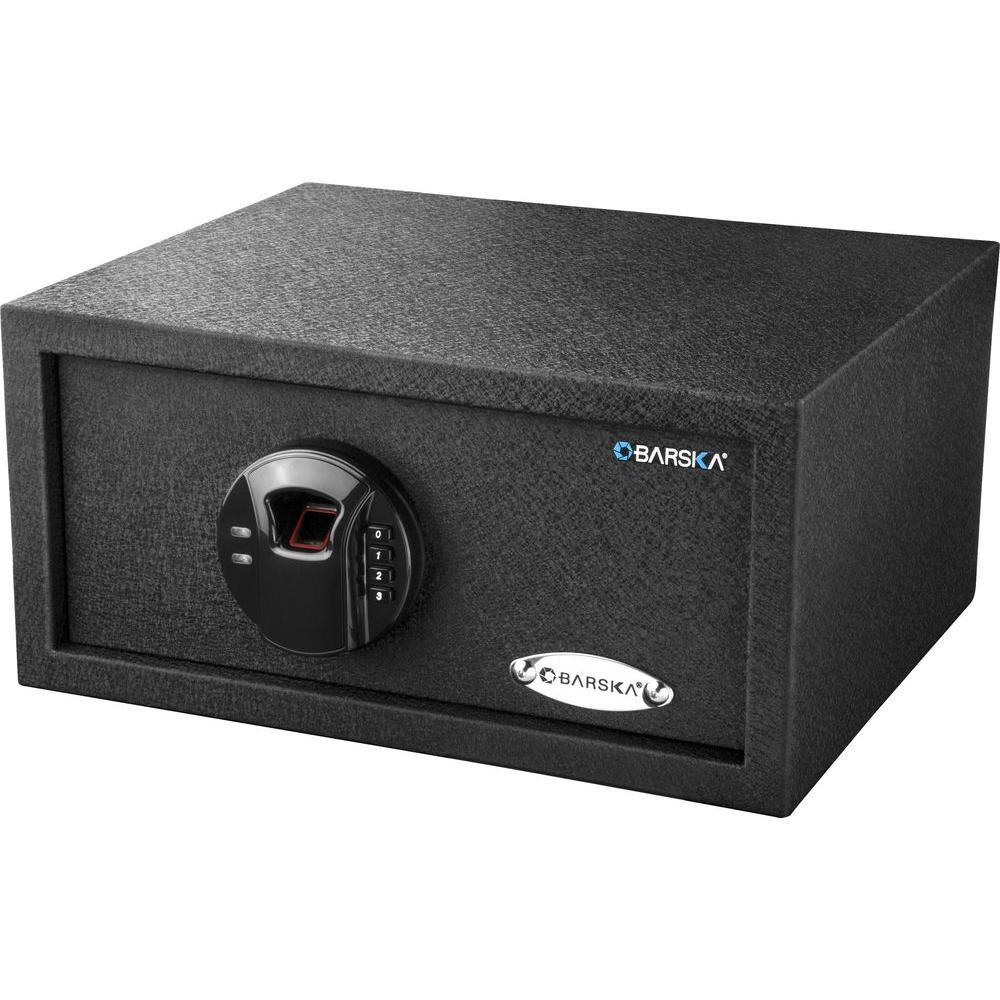 HQ100 0.69 cu. ft. Steel Biometric Keypad Safe with Digital Keypad, Black