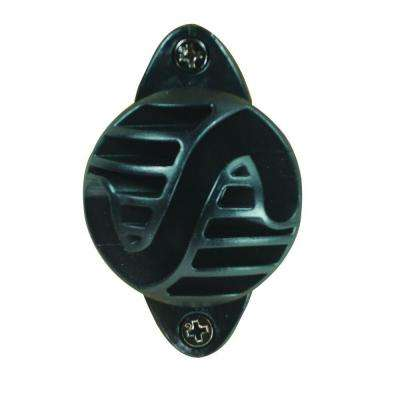 Wood Post - Polyrope Nail-On Insulator - Black
