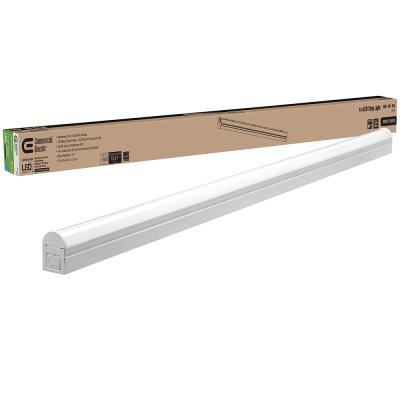 4 ft. 20-Watt Plug-in Direct Wire Integrated LED White Linkable Strip Light Fixture 1800 Lumens 4000K Bright White