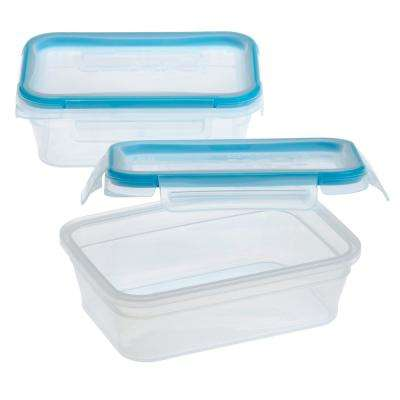 Total Solutions 3-Cup Plastic Rectangle Storage (2-Pack)