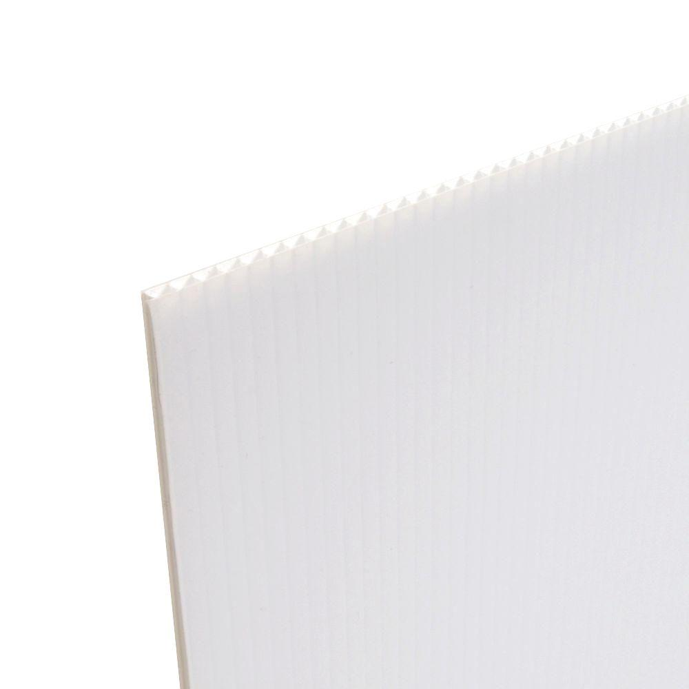 Coroplast 48 in. x 96 in. x 0.236 in. Fluted Twin Wall Plastic Sheet (5-Pack)