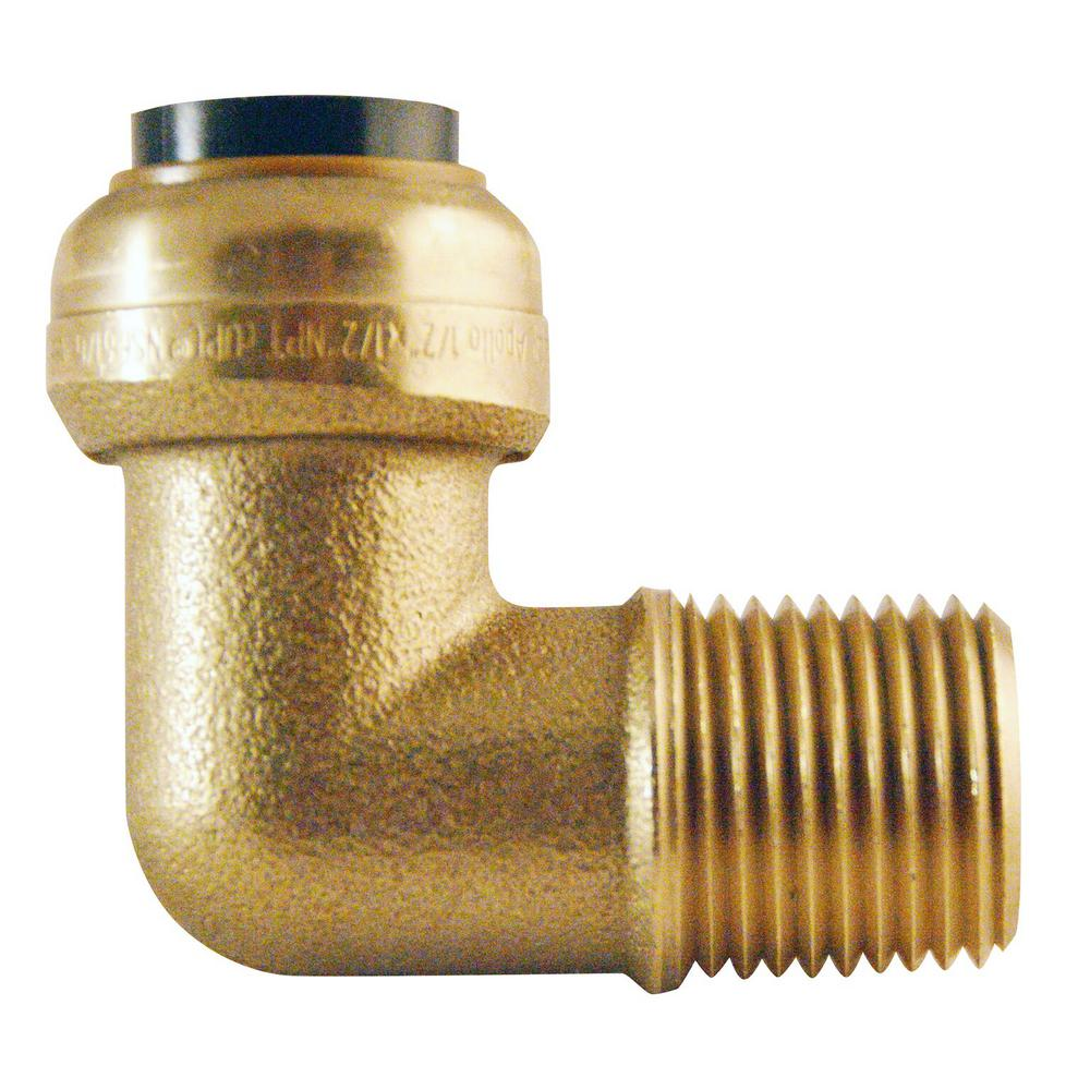 1/2 in. Brass Push-To-Connect x 1/2 in. Male Pipe Thread 90-Degree
