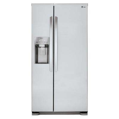 33 in. W 22 cu. ft. Side by Side Refrigerator in Stainless Steel
