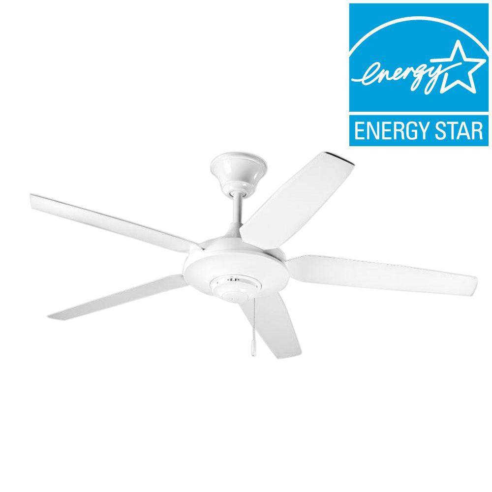 Progress Lighting AirPro Signature 54 in. White Ceiling Fan