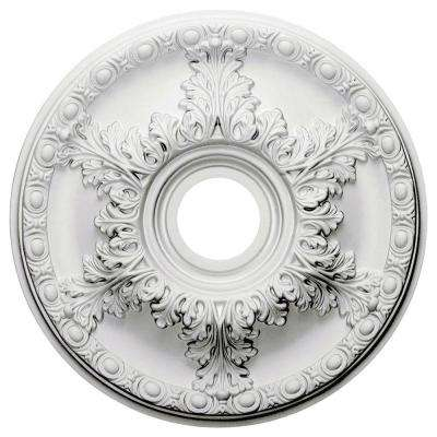 18 in. O.D. x 3-1/2 in. I.D. x 1-3/4 in. P Hampshire Ceiling Medallion