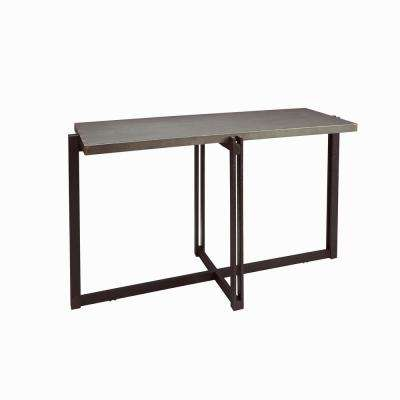 Dakota Bronze Metal Top Console Table
