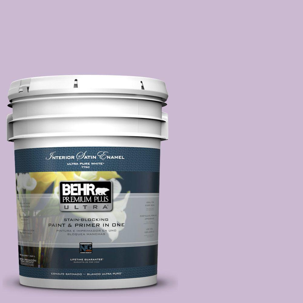 BEHR Premium Plus Ultra 5-gal. #660C-3 Sweet Petal Satin Enamel Interior Paint