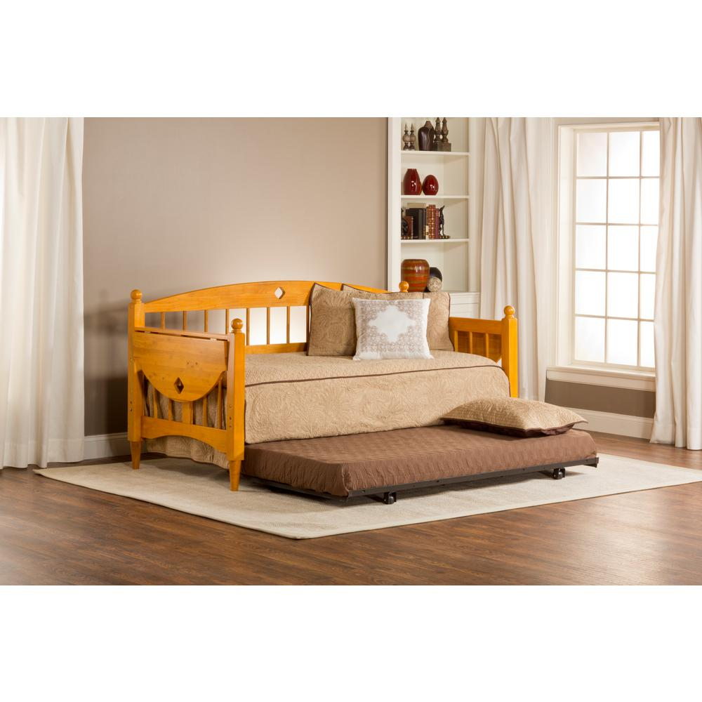 Awesome Hillsdale Furniture Dalton Medium Oak Trundle Day Bed 1393DBLH   The Home  Depot