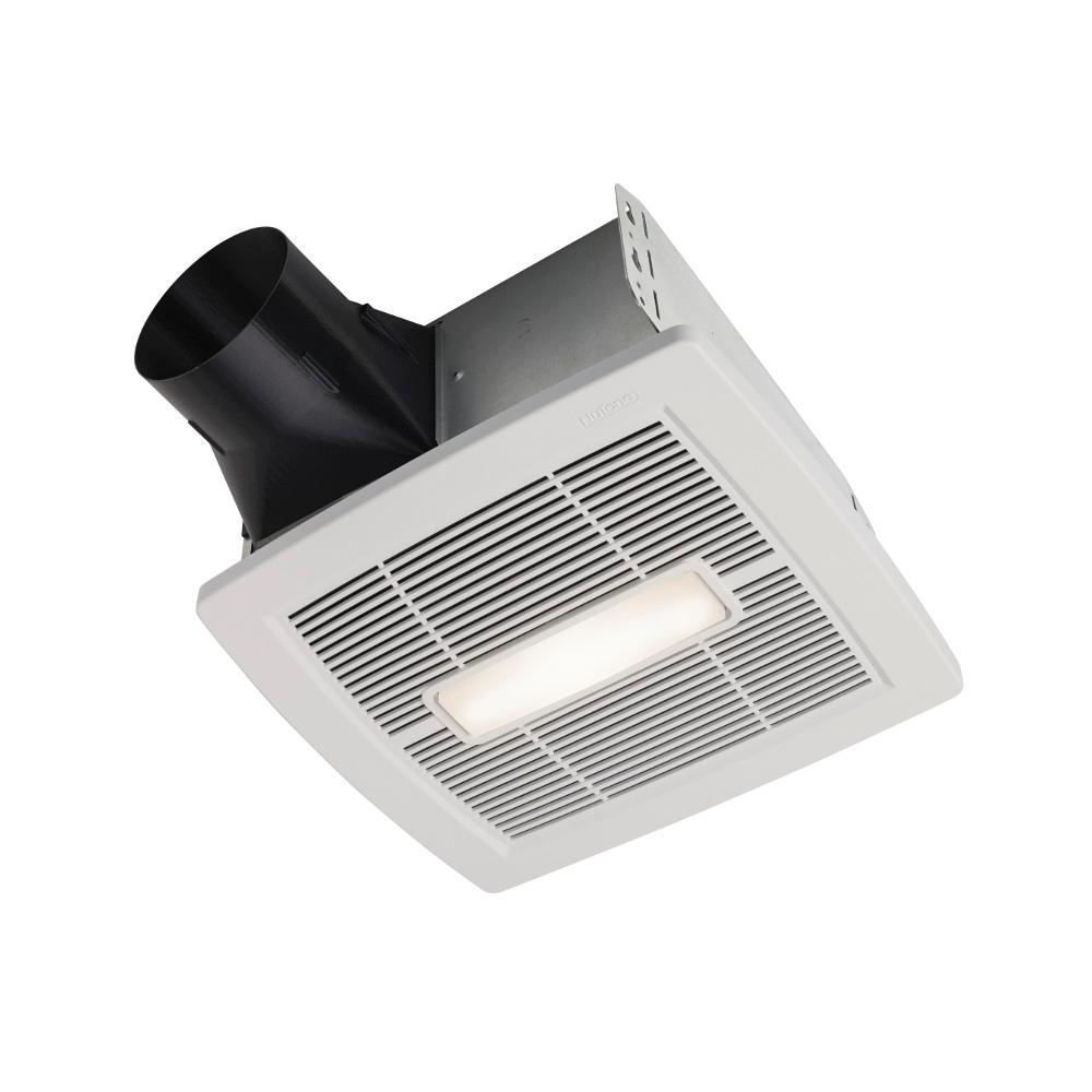 Nutone Invent White 110 Cfm Ceiling Room Side Installation Bathroom Connecting A Single Light To An Existing Lighting Circuit Ie Loft Exhaust Fan With And Humidity