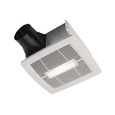InVent White 110 CFM Ceiling Room Side Installation Bathroom Exhaust Fan with Light and Humidity Sensing, ENERGY STAR*