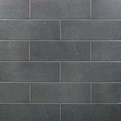Piston Camp Gray Rock 4 in. x 12 in. 7mm Matte Ceramic Subway Wall Tile (34-piece 10.97 sq. ft. / box)