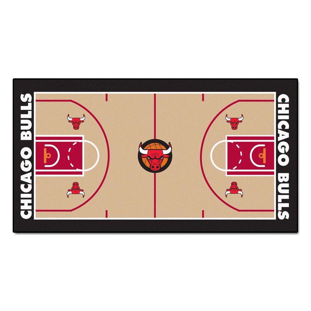 Fanmats Nba Chicago Bulls 3 Ft X 5 Ft Large Court Runner Rug 9222