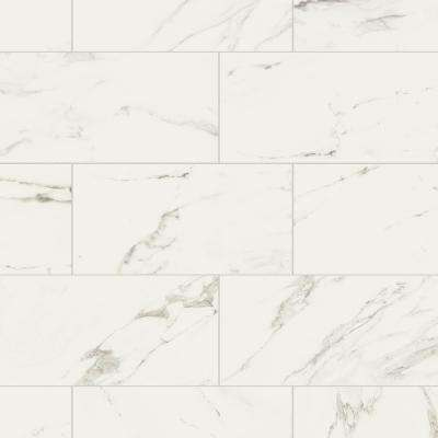 Developed by Nature Calacatta 12 in. x 24 in. Glazed Porcelain Floor and Wall Tile (15.6 sq. ft. / case)