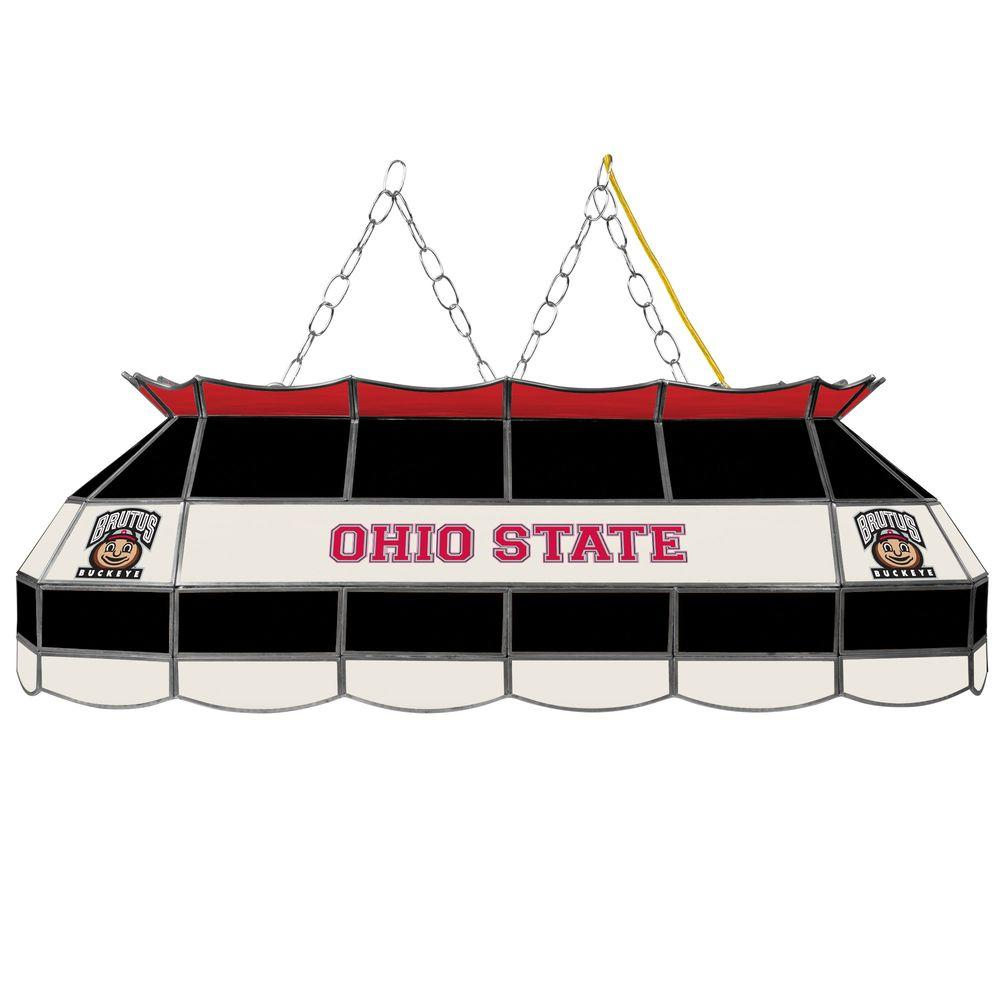Miller High Life Stained Glass Pool Table Light: Trademark Global Ohio State Brutus 3-Light Stained Glass