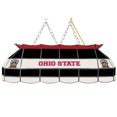 Ohio State Brutus 3-Light Stained Glass Hanging Tiffany Lamp