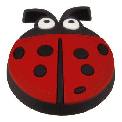 Kids Corner Lady Bug 1-3/8 in. x 1-5/8 in. Multi-Colored Metal Cabinet Knob