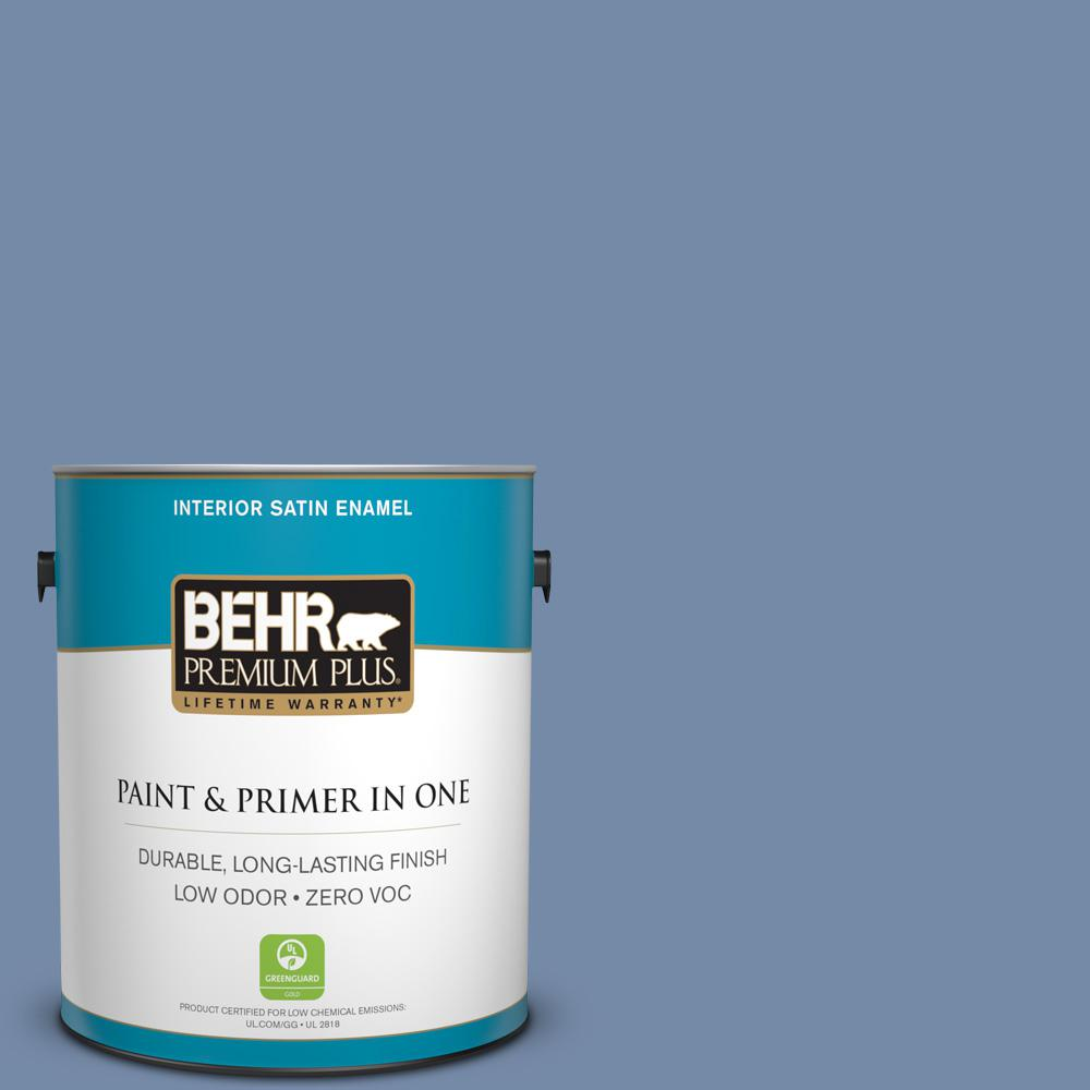 BEHR Premium Plus 1-gal. #590F-5 Magic Spell Zero VOC Satin Enamel Interior Paint