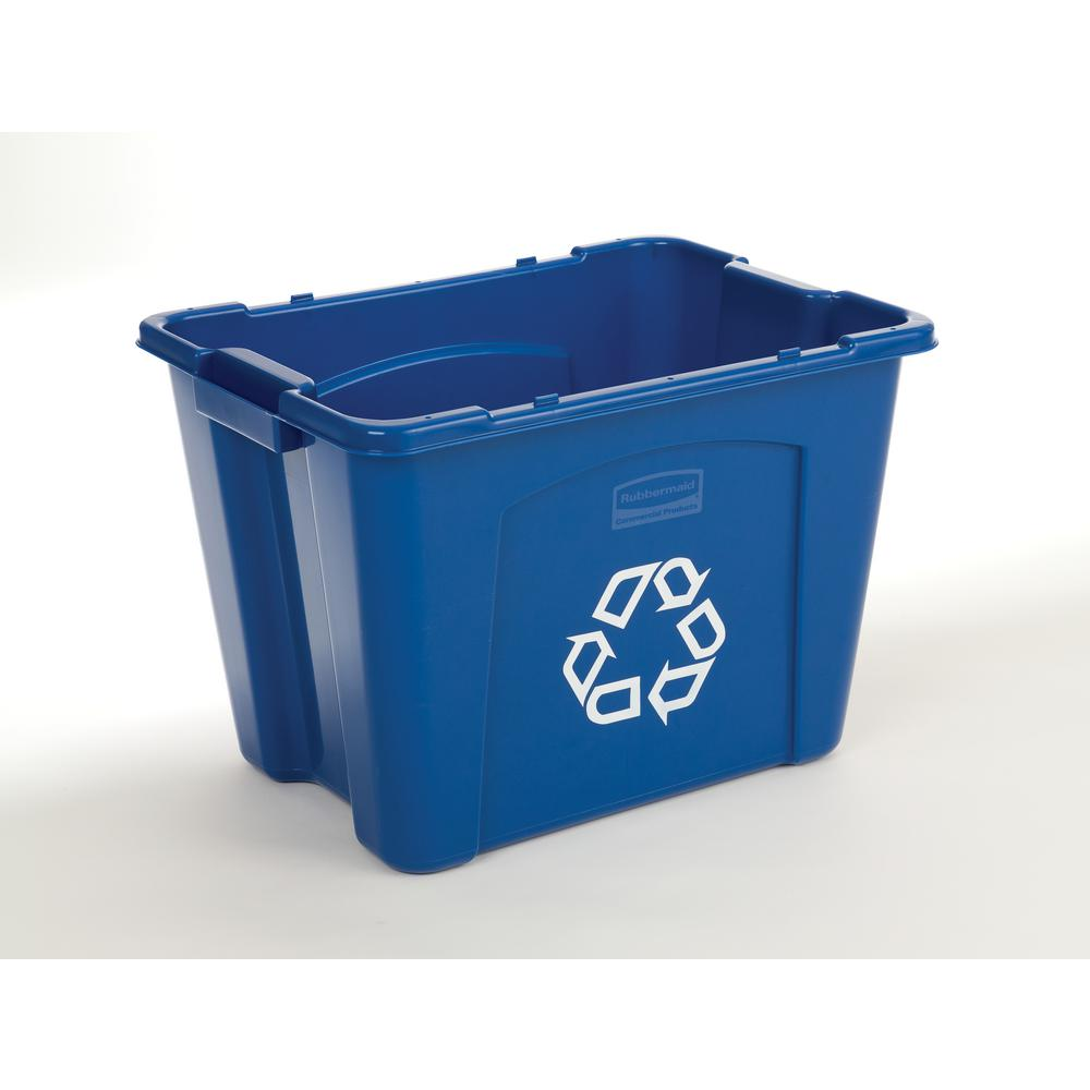 14 Gal. Blue Recycling Bin