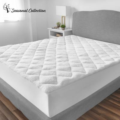 All Seasons 15 in. King Polyester Mattress Pad