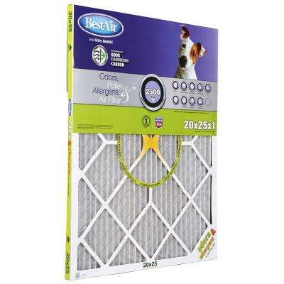 20 in. x 25 in. x 4 in. Honeywell FPR 7 Carbon Air Cleaner Filter