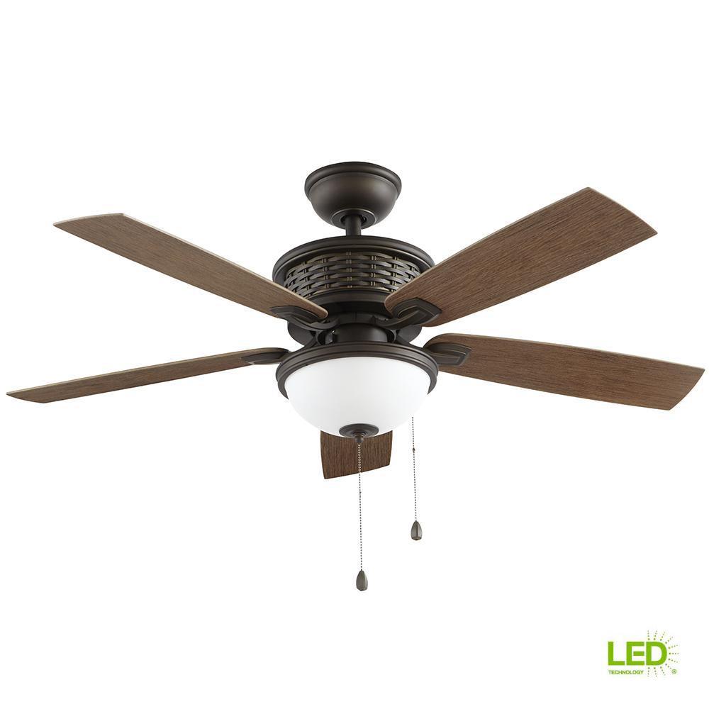Hunter Leoni 48 In Led Indoor Noble Bronze Ceiling Fan