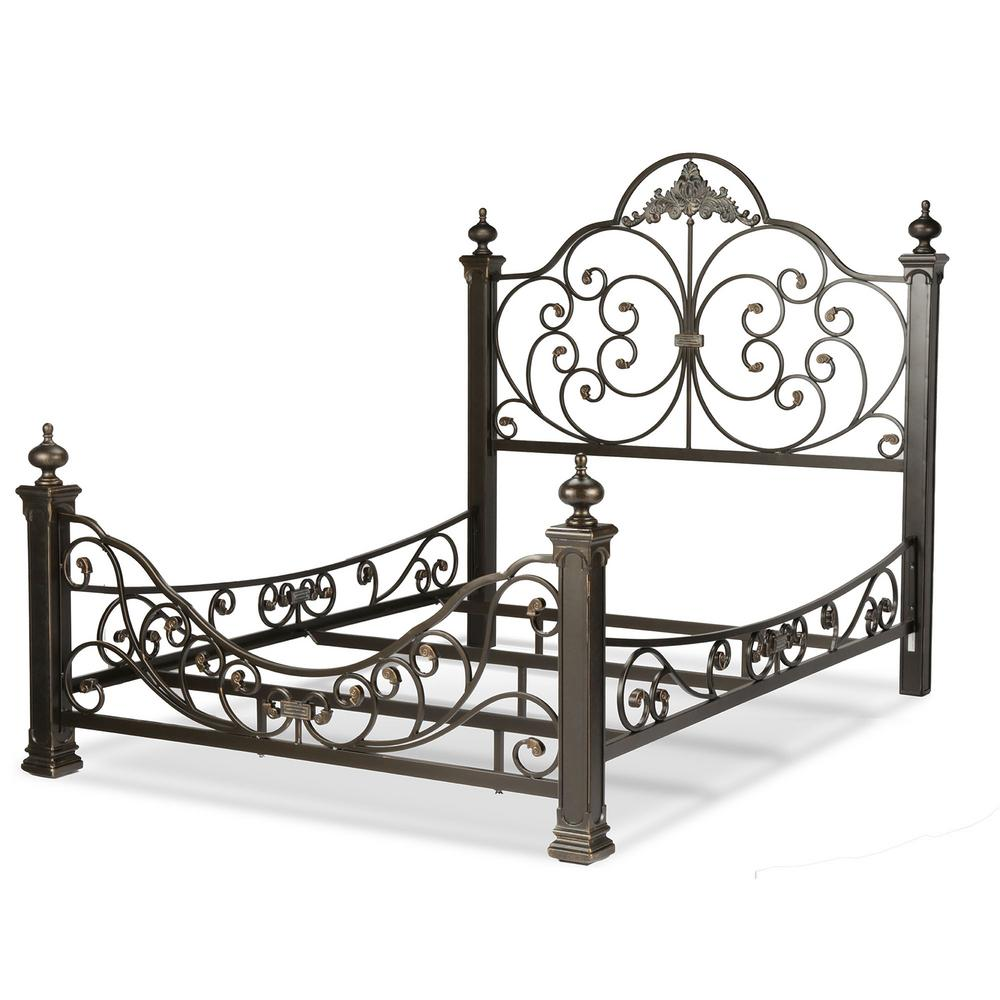 This Review Is From Baroque Gilden Slate Queen Complete Bed With Mive Cast Metal Grills And Decorated Sloping Side Rails