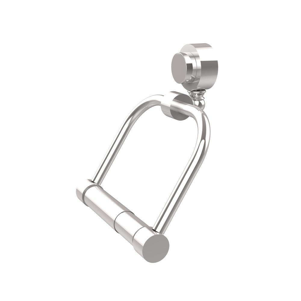 Allied Brass Venus Collection Single Post Toilet Paper Holder in Polished Chrome