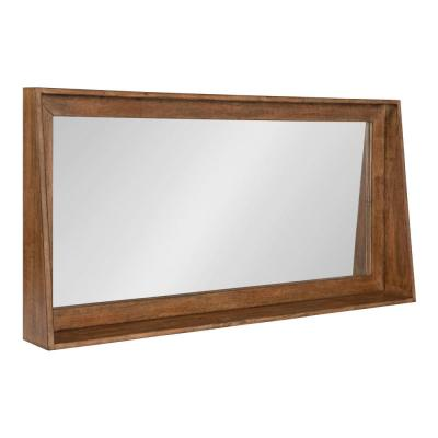 Small Rectangle Brown Classic Mirror (18.11 in. H x 36.02 in. W)