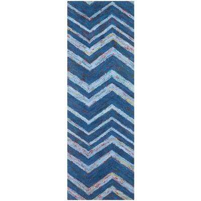 Nantucket Blue/Multi 2 ft. x 5 ft. Runner Rug