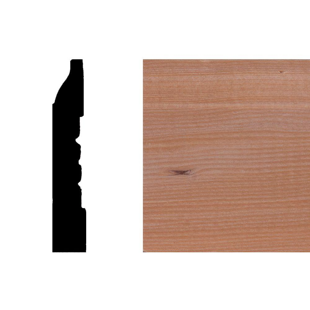 LWM625 7/16 in. x 2-1/4 in. Hemlock Wood Base Moulding